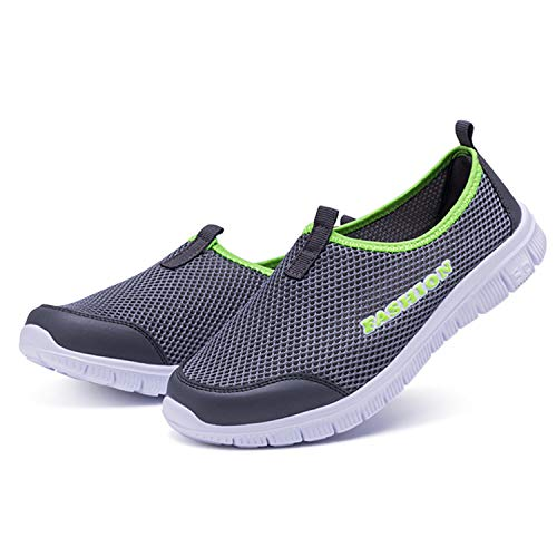Mocassins Fonc Running Chaussures Baskets Gris Frestepvie Escarpins Sport Sneakers Taille Leather Hommes En Slip Plimsole Pour Respirants Cuir De On qHxawOxE