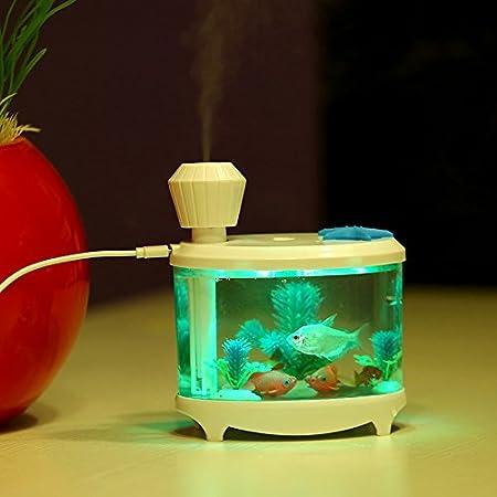 Mini Humidificador _ mini humidificador usb inicio Nebulizador fresca y creativa ver la pecera, Rosa: Amazon.es: Hogar