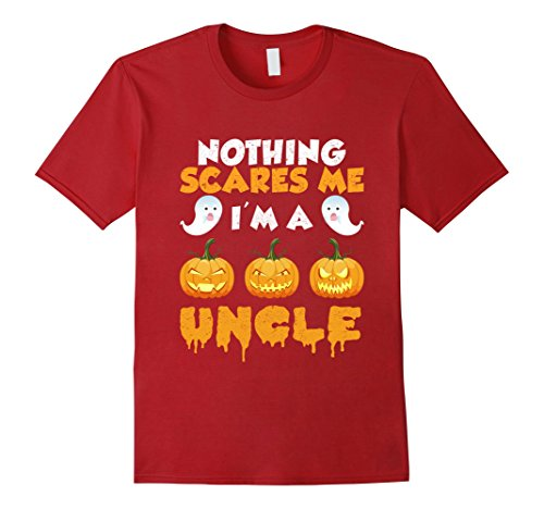 Mens Nothing Scares Me I'm a Uncle Daddy Family Halloween Shirt 3XL Cranberry (Daddy And Me Halloween Costumes)