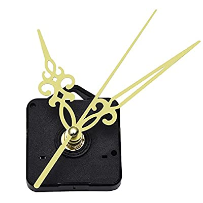 Mudder Quartz Wall Clock Movement Mechanism Golden Hands 3/ 25 Inch Maximum Dial Thickness, 1/ 2 Inch Total Shaft Length