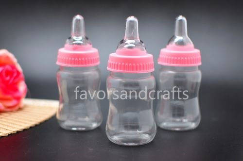 24 Fillable Bottles for Baby Shower Favors Blue Pink Party Decorations Girl Boy by Unbranded*