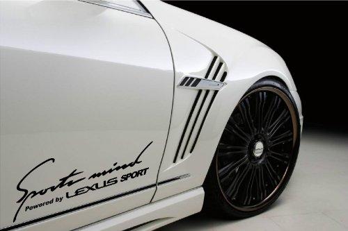 (Sports Mind Powered By Lexus Sport Racing Decal Sticker Emblem Logo Black Pair)