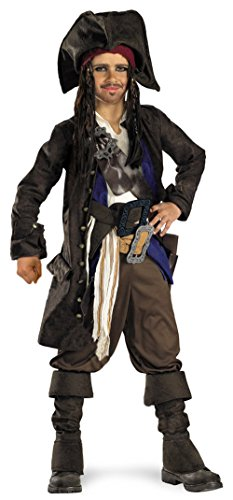 Disney Pirates of The Caribbean Captain Jack Sparrow Prestige Premium Boys Costume, Small/4-6 (Captain Jack Sparrow Jacket)