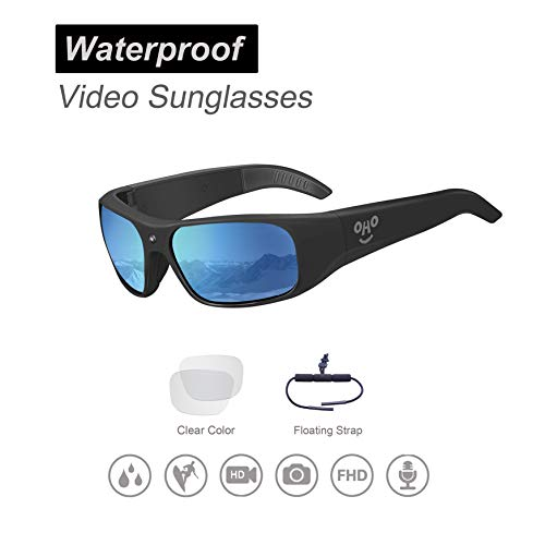 Waterproof Video Sunglasses, 1080P HD Outdoor Sports Camera with 32GB Memory & Polarized ()