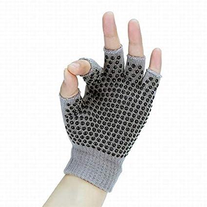 Amazon.com: Women Pink Purple Black Yoga Gloves Anti Slip ...