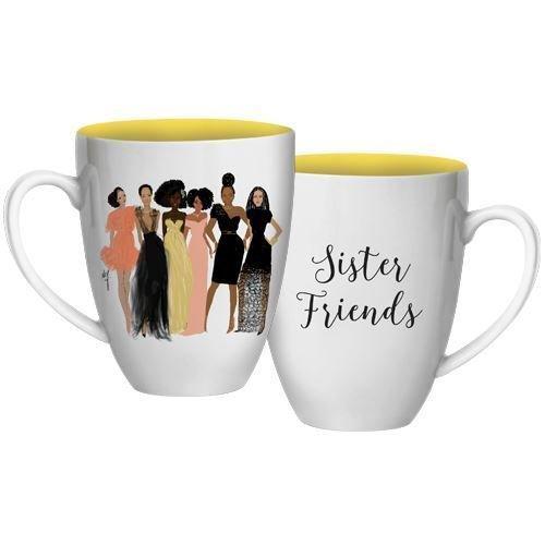 American African Mug (African American Expressions - Sister Friends Coffee Mug, 15 oz Dishwasher & Microwave Safe (4.25