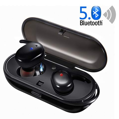 Bluetooth Headphones, JoyGeek Wireless Headphones with 3D Stereo Sound Hi-Fi Bluetooth V5.0 Wireless Earbuds IPX5 Waterproof, True Wireless Earphones with Portable Charging Case for iPhone / iPad and Most Android Phones