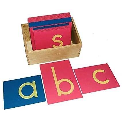 Amazon.com: Montessori Lower Case Sandpaper Letters w/Box: Toys
