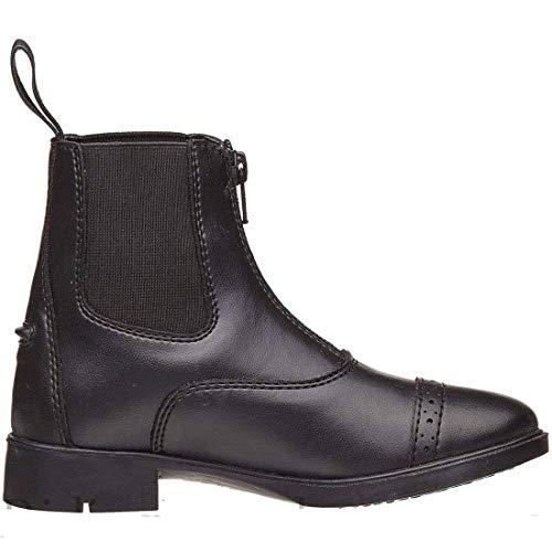 - Wexford Horze Kid's Front Zip Paddock Boots, Black, 4