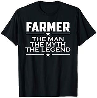 Cool Gift Mens Farmer  - Gift For Farmer - Farmer Myth  Women Long Sleeve Funny Shirt / Navy / S - 5XL