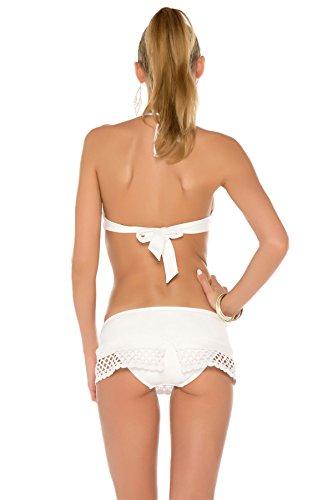 Becca by Rebecca Virtue Women's It Girl Banded Halter Bikini Top White D