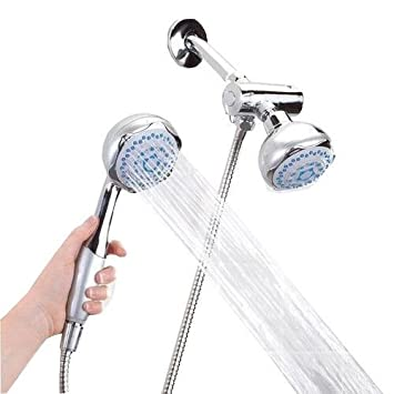 Amazon.com: Home Collections Deluxe Dual Head Shower Massager: Home ...