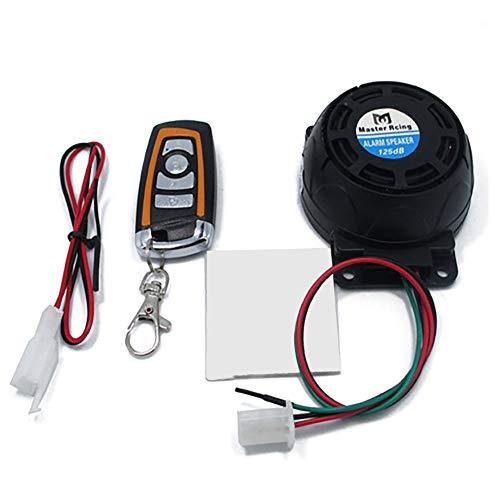 Motorcycle Alarm System, Anti-Theft Security All-in-one Saucer Type Alertor Motorbike Burglar Alarm