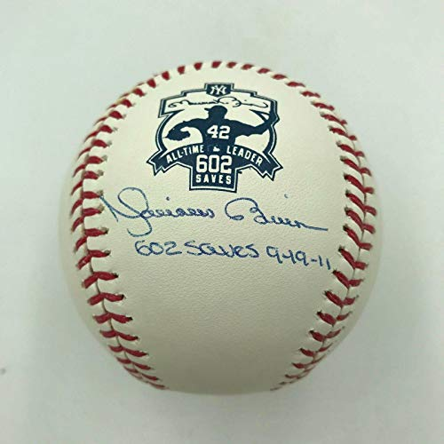 Autographed Mariano Rivera Ball - 602 Saves 9 19 11 Record Breaking COA - Steiner Sports Certified - Autographed ()