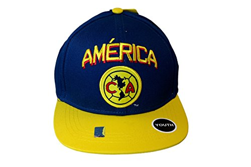 Youth Kid Size CA Club America Authentic Official Licensed Soccer Trucker Cap -012 (Kids Jacket America Club)