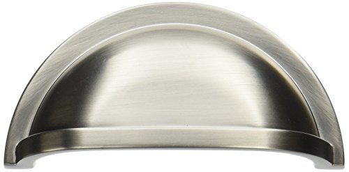 Stainless Steel Cup Pulls - Hickory Hardware P3055-SS Williamsburg Cup Cabinet Pull, 3-Inch, Stainless Steel