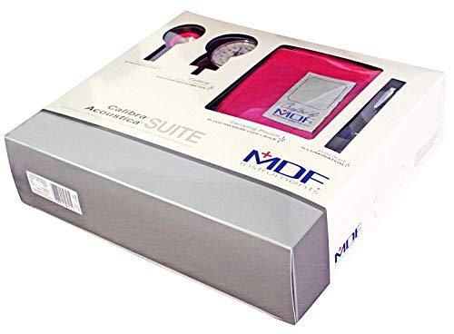 MDF Acoustica Deluxe Lightweight Dual Head Stethoscope, MDF Calibra Aneroid Sphygmomanometer, MDF Pocket Illuminator Medical Professional Diagnostic Penlight - Fuschia - Mdf Sphygmomanometer Aneroid Professional