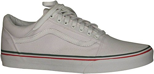 Vans Skate Unisex Old Shoes White Classic True Red Skool Green ICIrd5Owqx
