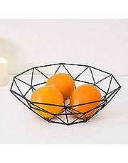 Fruit Dish, Binbinmall Geometric Creative Fruit Dish Bowl Basket Container for Fruit Vegetable Dry Pot