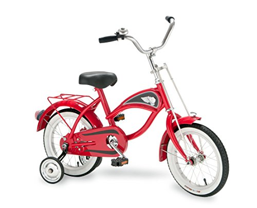 Morgan Cycle 14'' Cruiser Bicycle with Training Wheels, Red by Morgan Cycle