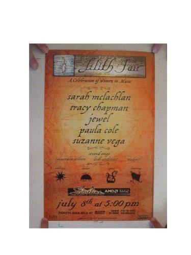 Sarah McLachlan Tracy Chapman Jewel Paula Cole Poster July 8 Sara