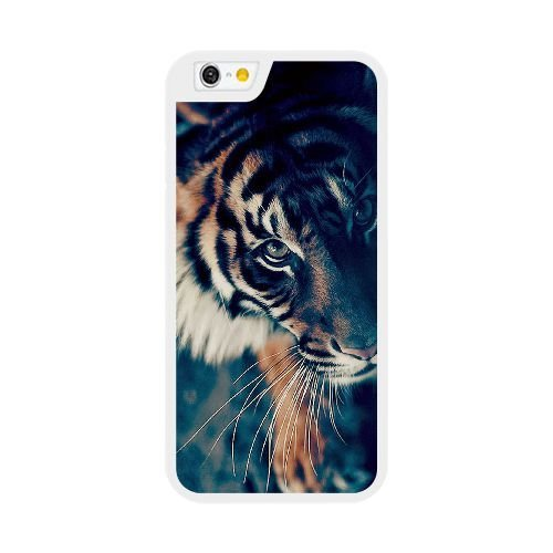 Custom Case for iPhone 6 6S Plus 5.5 Inch White Bengal Tiger Face Closeup SDFJIOJEM6203 Bengal Tiger Close Up