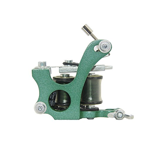 Hot Aluminum Alloy Green Tattoo Machine Gun for Shader 10 Wraps Coil - Alloy Wrap