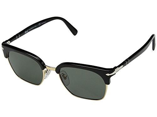 Persol Men's 0PO3199S Black/Green Polarized One ()