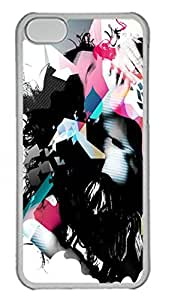 iPhone 5C Case Abstract Woman PC Custom iPhone 5C Case Cover Transparent