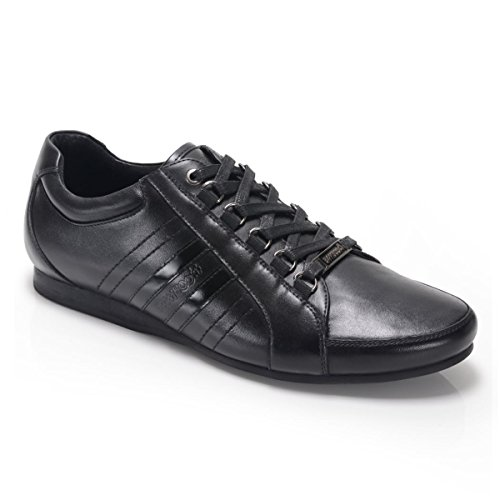 BambooA CARDUCCI Mens Leather Lace Up Trainer Shoes Black Black in China sale online gzY2MJk1U