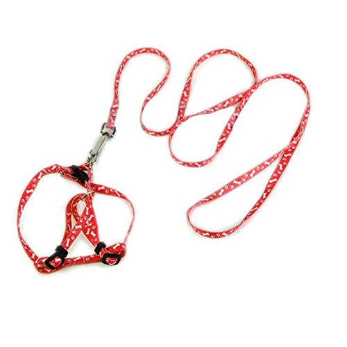 Leash Harness - 1 Adjustable Pet Dog Leash Puppy Cat Rabbit Kitten Nylon Harness Collar Lead - Andiron Chase Apprehension Heel Nab Frump Pick Familiari Neckband Domestic Track - 1PCs