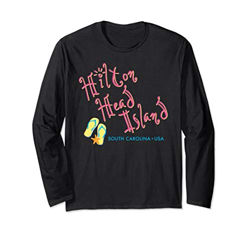 (Hilton Head South Carolina Flip Flop long sleeve t-shirt)