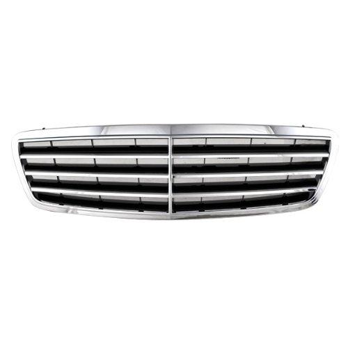 CarPartsDepot 400-321686, Chrome Grill Grille Frame Black Mesh Sedan MB1200143 20388002239040