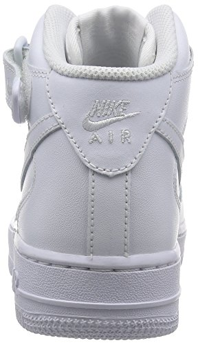 Nike Wmns Air Force 1 Mid 07 Le, Scarpe Sportive, Donna Bianco (White)