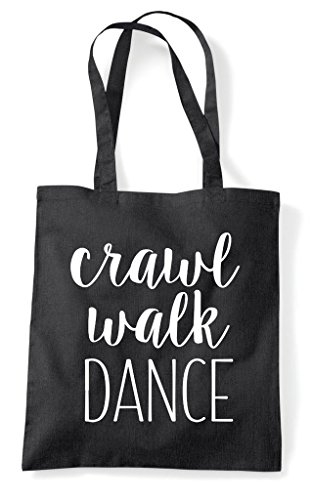 Walk Shopper Tote Crawl Bag Black Statement Dance d7nz8TwSx