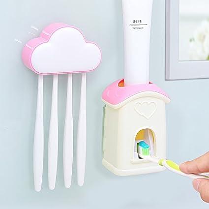 lfnrr alta calidad automático de pasta de dientes cepillo de dientes Creative Cartoon elefante almacenamiento pared