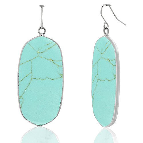 (WILLOWBIRD Simulated Turquoise Dangle Earring for Women with French Wire (Turquoise))