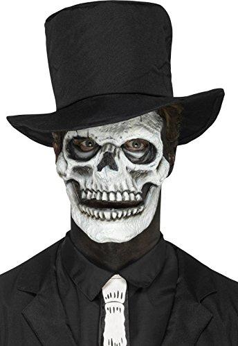 Foam Latex Skeleton Face Prosthetic ()