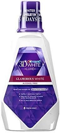 Crest Crest 3d White Mouthwash Fresh Mint 8 Oz