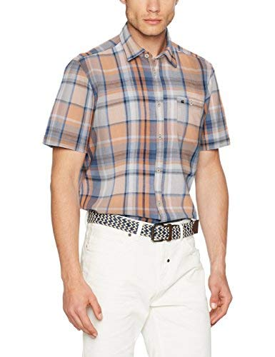 TALLA L. LERROS Herren Hemd Camisa Casual para Hombre
