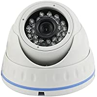 HEROUS Dome Security Camera Ahd 1080P 3.6mm Lens Wide Angle 24 PCS IR Led IR Cut 65Ft Ir Range Waterproof Night Vision Indoor