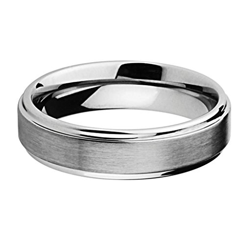6MM Wellingsale LUXE Series Comfort Fit Wedding Band Ring with Raised Center and Smooth Rounded Edges in Brushed and Polished Finish for Men and Women - Size 11.5 by Wellingsale® (Image #1)