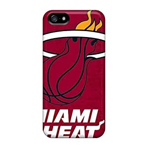 Miami Heat Snap on Plastic Compatible with For HTC One M9 Case Cover