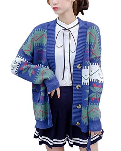 SANKU レディース カーディガン ニット 長袖 ボタン付き ゆったり 厚手 秋冬 無地 アウター おしゃれ ジャケット 学生 通勤 かわいい 柔らかい ニットコート シンプル ベーシック ボレロ