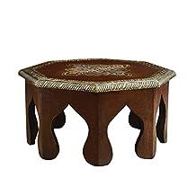 Rusticity Wooden Small Stool / Altar Table / Pooja Chowki | Handmade | (12x12x6 in)