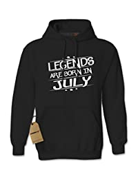 Expression Tees Legends Are Born In July Unisex Adult Hoodie
