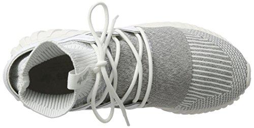 White Doom White Stivaletto adidas a Pantofole Tubular Footwear Grey Clear Footwear Uomo Primeknit Bianco Ppzq5
