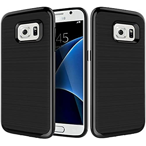 Samsung Galaxy S7 Case, Laxier(TM) Premium Bumper Cover Hard Shell PC + TPU Protective Case for Galaxy S7 (not fit S7 edge)(Black) Sales