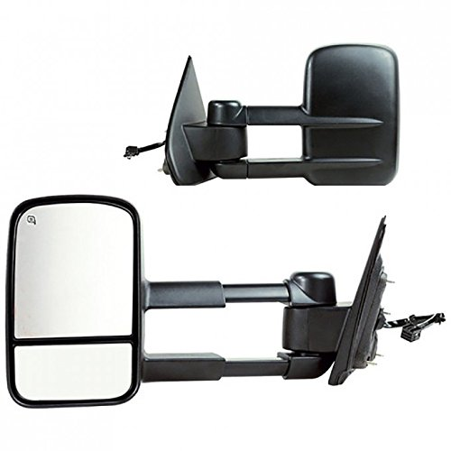 Left Right Mirrors - VioletLisa 2pcs Left & Right Power Heated Manual Telescoping Towing Mirrors Rear Side View Tow Set For 14-17 Chevy Silverado/GMC Sierra 1500/2500 HD/3500 HD/3500 Pickup Truck