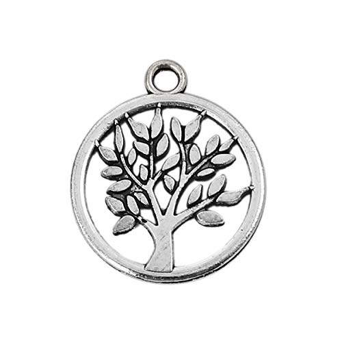 17 Mm Olive - Tree of Life Charm Pendants, 48 Pack, 17mm (5/8